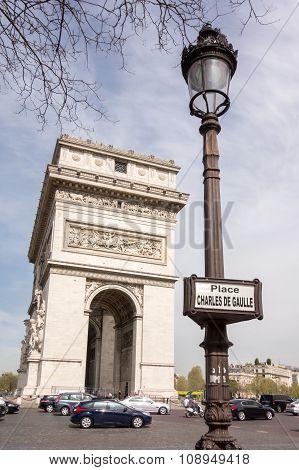 Paris, France - April 15, 2015: The Arc De Triomphe, On April 15, 2015 In Paris, France.