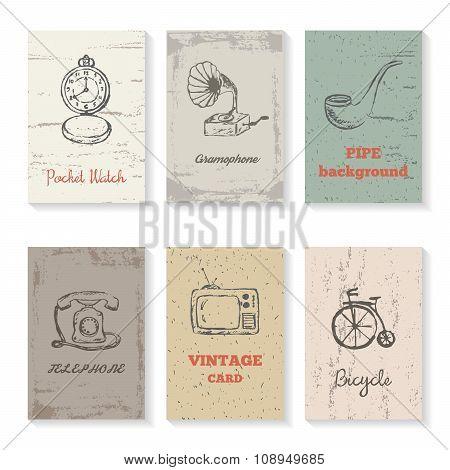 Se of 6 Vintage cards