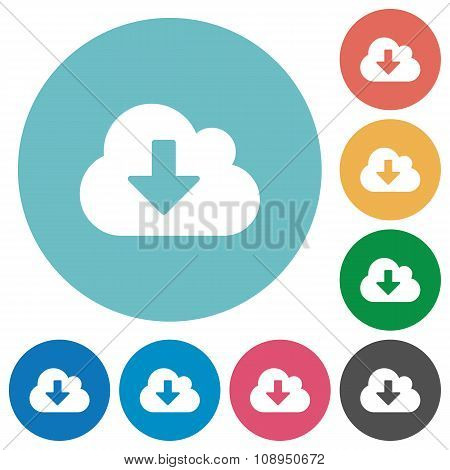 Flat Cloud Download Icons