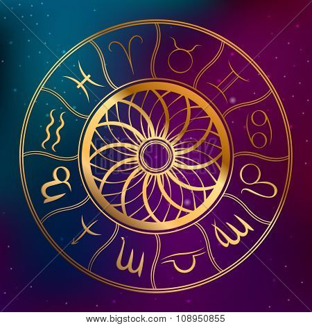 Abstract background astrology concept horoscope with zodiac signs illustration vector