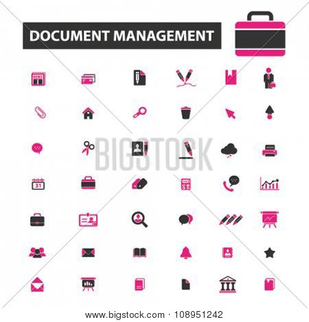 document management, business  icons, signs vector concept