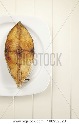 deep fried slice of the seer fish