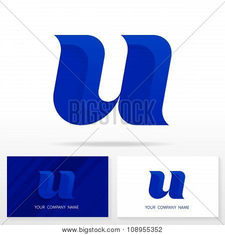 Letter U logo icon design template elements - Illustration.