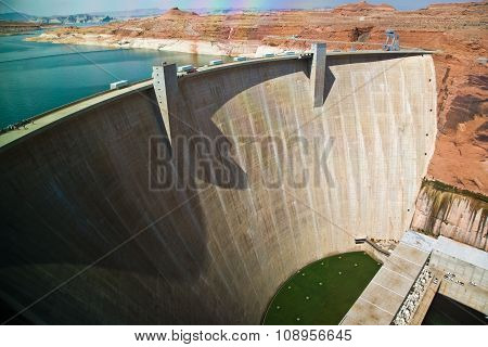 Glen Canyon Dam In Page Is Delivering Power For The Whole Area