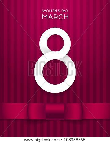 8 March Vector illustration