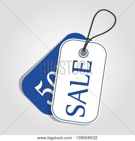 Vector. Sale tag color.
