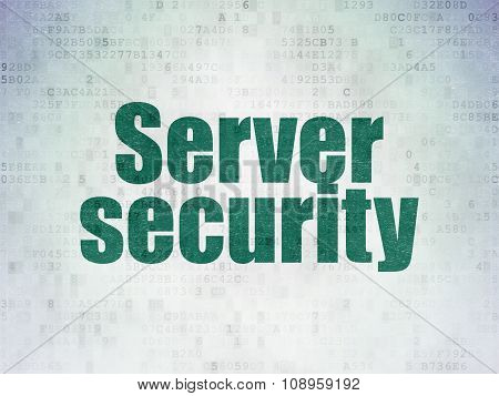 Security concept: Server Security on Digital Paper background