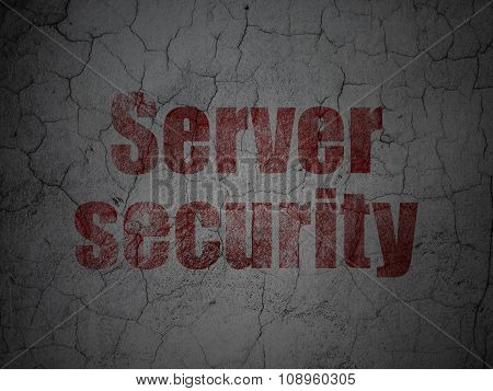 Privacy concept: Server Security on grunge wall background