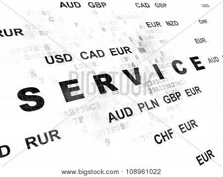 Business concept: Service on Digital background