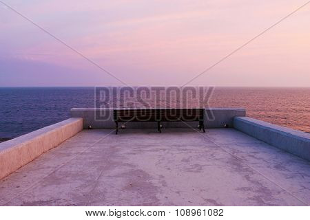 Bench At The Seaside