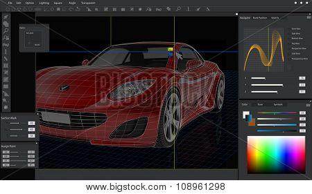 Car Interface Automobile Screen Transportation Concept