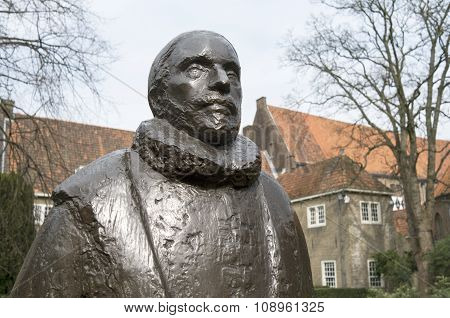 Netherlands - Delft - Circa April 2014: William Of Orange In The Garden Of Museum Prinsenhof.