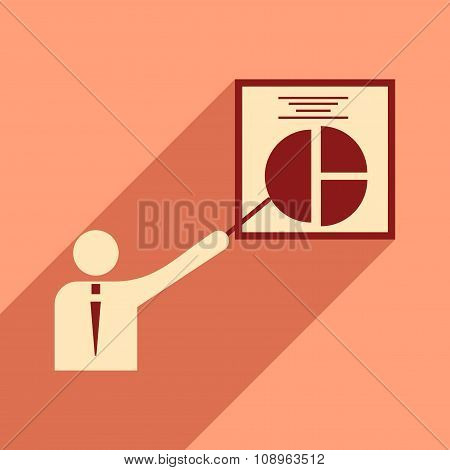 Flat design modern vector illustration icon People chart economy