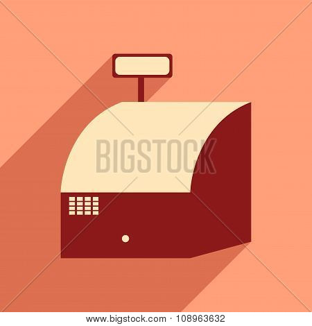 Flat design modern vector illustration icon cash registers economy