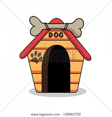 Illustration of dog kennel vector