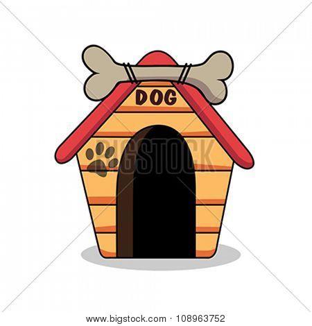Illustration of dog kennel vector