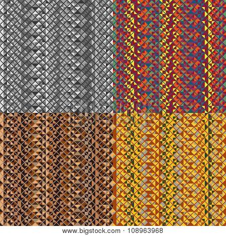Set Of Seamless Vector Pattern