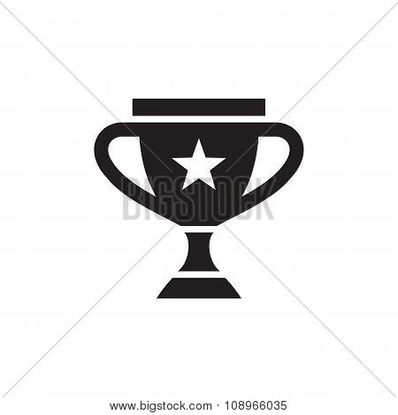 Award vector icon sign. Cup vector icon sign. Win icon sign.