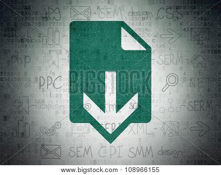Web design concept: Download on Digital Paper background