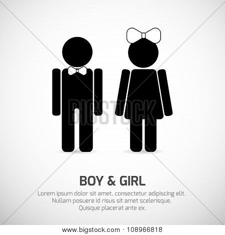 Boy and Girl restroom sign