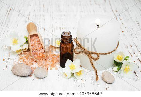 Essential Oil With Jasmine Flower