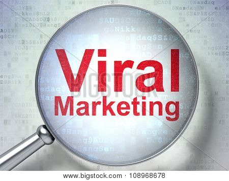 Marketing concept: Viral Marketing with optical glass