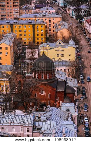 city, roof, house, church,urban landscape