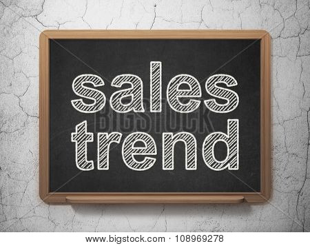 Advertising concept: Sales Trend on chalkboard background