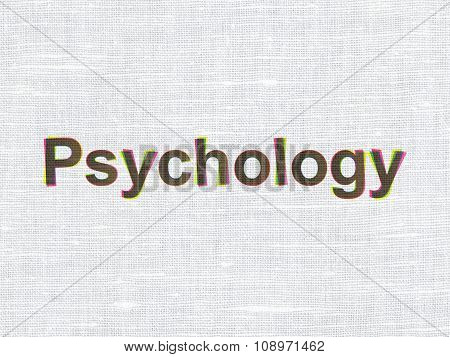 Health concept: Psychology on fabric texture background