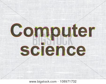 Science concept: Computer Science on fabric texture background