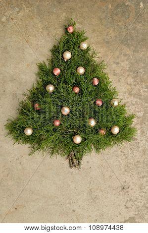 Rustic Cedar Christmas Tree Background