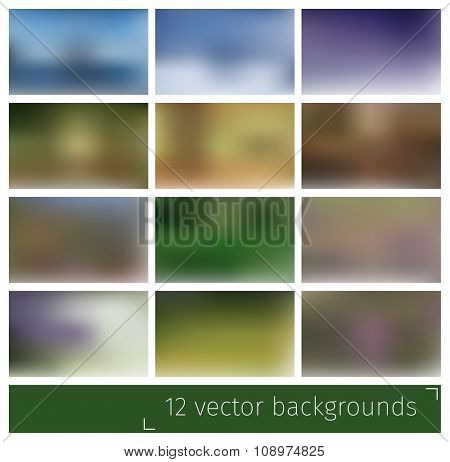 Abstract blurred vector backgrounds for website or presentation.