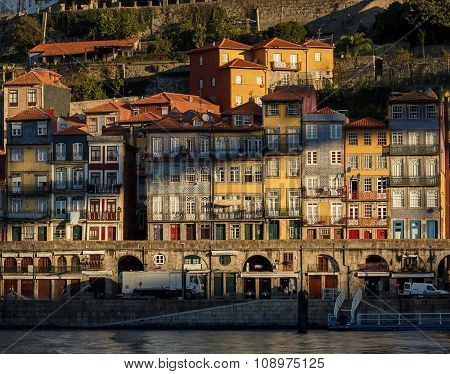 Colorful houses of Porto city