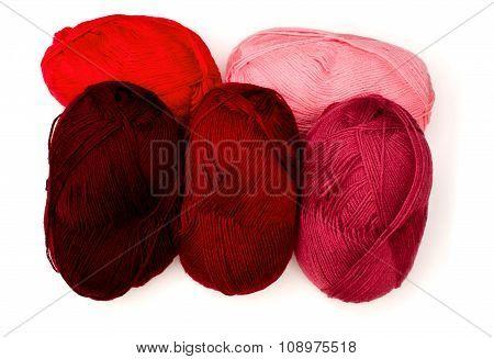 Yarn In Red Tones