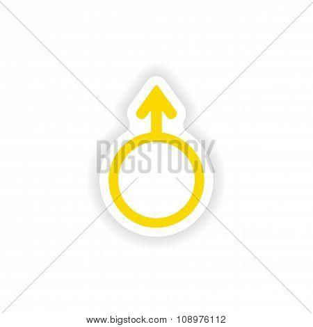 icon sticker realistic design on paper male