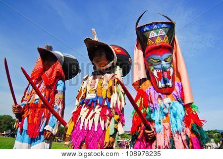 Loei, Thailand - June 6 : Phi Ta Khon Festival (ghost Festival) On June In Loei Province Young Peopl