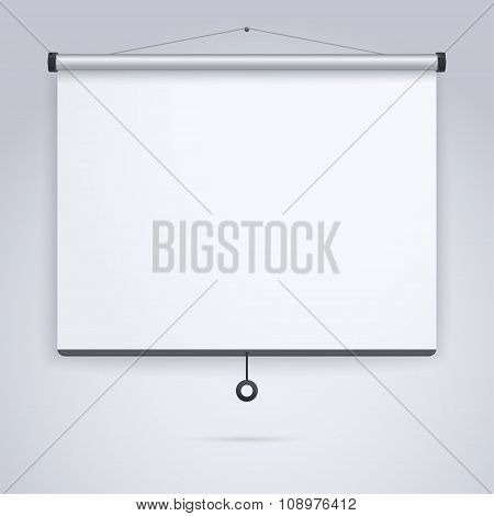 Presentation, Empty Projection screen