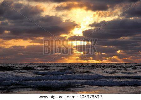 Dramatic California Pacific Sunset