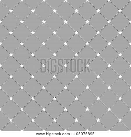 Stars and dots seamless pattern