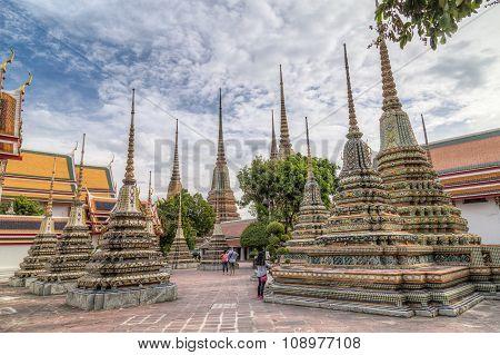 Bangkok, Thailand - Circa August 2015: Wat Pho, Bangkok,  Thailand
