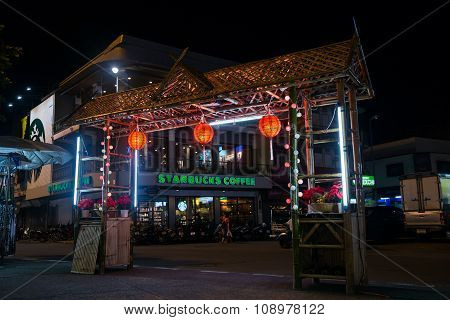 Chiang Mai, Thailand - Circa August 2015: Entrance To Night Market In Chiang Mai,  Thailand