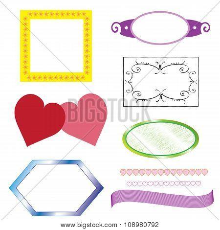 Set-shaped frames