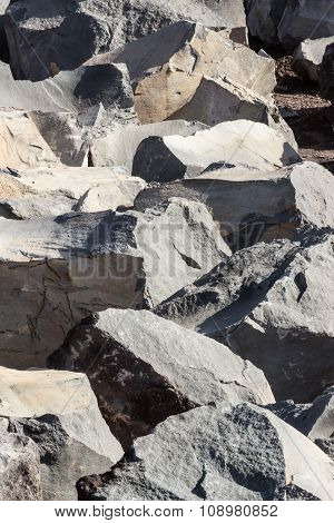 The Volcanic Rocks In A Sicilian Quarry.