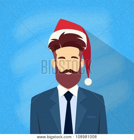 Profile Icon Businessman Male New Year Christmas Holiday