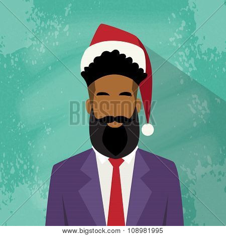 Profile Icon Businessman African American Race Male New Year Christmas