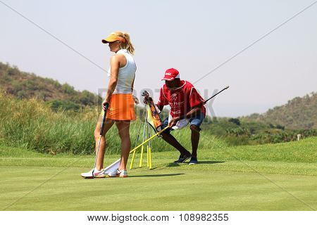 Ladies Pro Golfer Carly Booth Preparing To Put November 2015 In South Africa