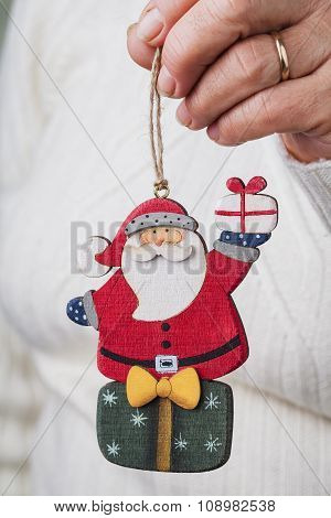 Santa Claus Doll In Hand