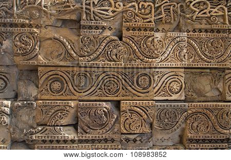 Carved Walls, Qutub Minar Complex, Delhi, India