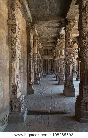 Well Crafted Pillars, Qutub Minar Complex, Delhi, India