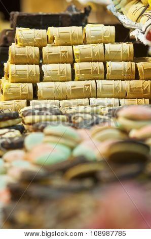 A Pile Of Sweet Wafer Macro